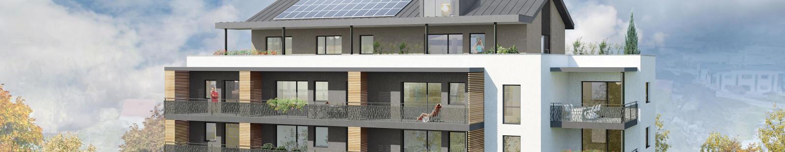 17 appartements neufs à Avanne-Aveney avec terrasses au Sud-Ouest